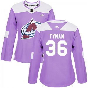 Authentic Adidas Women's T.J. Tynan Purple Fights Cancer Practice Jersey - NHL Colorado Avalanche